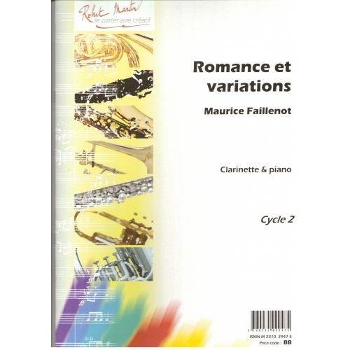 ROBERT MARTIN FAILLENOT M. - ROMANCE ET VARIATIONS