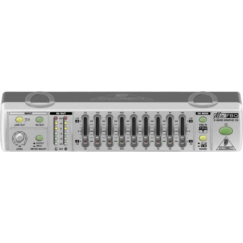 BEHRINGER MINIFBQ FBQ800 GRAPHIC EQ EQUALIZER + ANTI FEEDBACK - FBQ 800