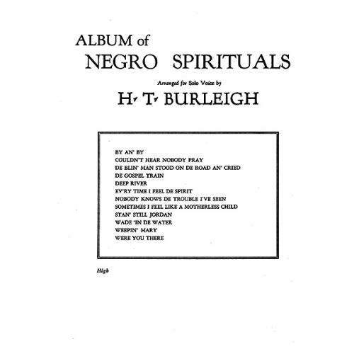 ALFRED PUBLISHING ALBUM OF NEGRO SPIRITUALS HIGH - VOICE AND PIANO