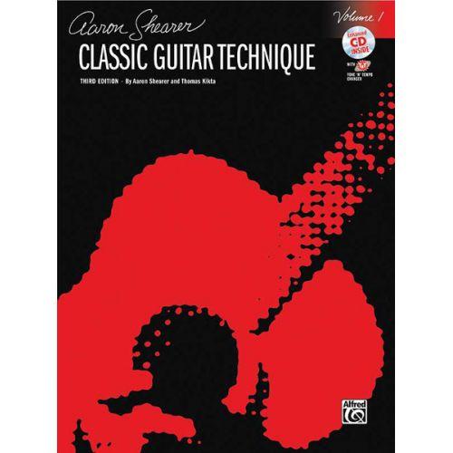 ALFRED PUBLISHING SHEARER AARON - CLASSICAL GUITAR TECHNIQUE V1 + CD - GUITAR