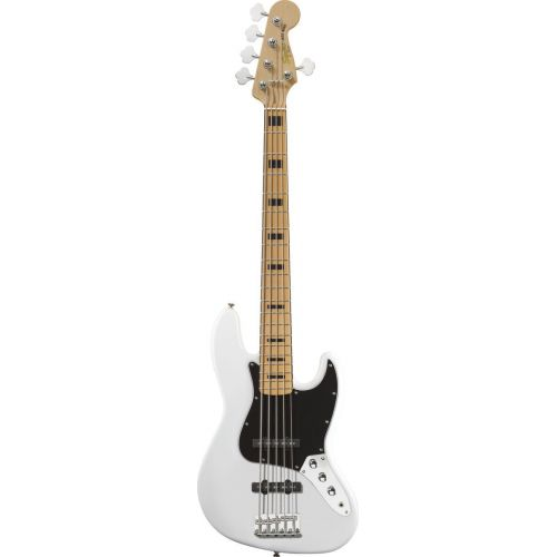 SQUIER BY FENDER JAZZ BASS V OLYMPIC WHITE VINTAGE MODIFIED