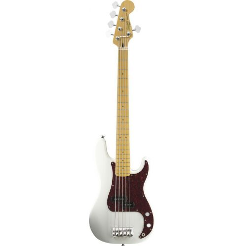 SQUIER BY FENDER PRECISION BASS V OLYMPIC WHITE VINTAGE MODIFIED