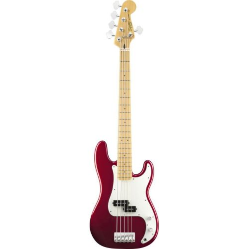 SQUIER BY FENDER PRECISION BASS V CANDY APPLE RED VINTAGE MODIFIED