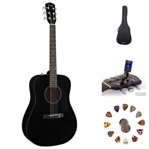 FENDER CD-60 SCHWARZ V2 + ACCESSORIES