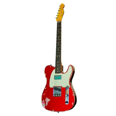 FENDER LTD 60s HS TELECASTER CANDY APPLE RED OVER PINK PAISLEY HEAVY RELIC