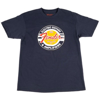 FENDER GUITARS AND AMPS LOGO T-SHIRT NAVY L