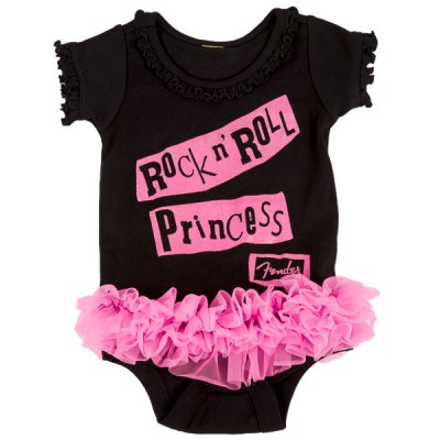 FENDER ROCK N' ROLL PRINCESS ONESIE BLACK 18 MNTH