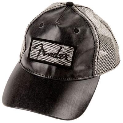 FENDER CLEAR COAT TRUCKER HAT BLACK ONE SIZE