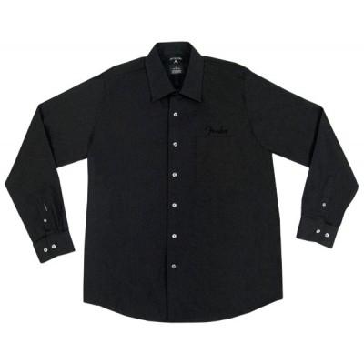 FENDER LONG-SLEEVED SHIRT BLACK SELF STRIPE S