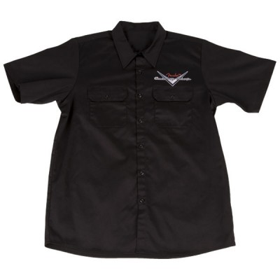 FENDER CUSTOM SHOP WORKSHIRT BLACK L