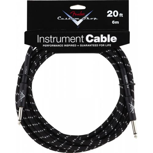 FENDER CUSTOM SHOP INSTRUMENT CABLE 20' BLACK