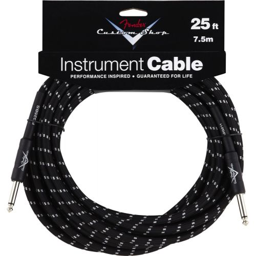 FENDER CUSTOM SHOP SERIES CABLE 25' BLACK TWEED