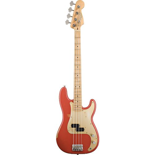 FENDER MEXICAN ROAD WORN 50S PRECISION BASS FIESTA RED