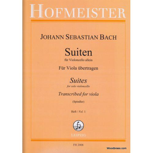 HOFMEISTER BACH J.S. - SUITEN FUR VIOLONCELLO BAND 1 - VIOLA