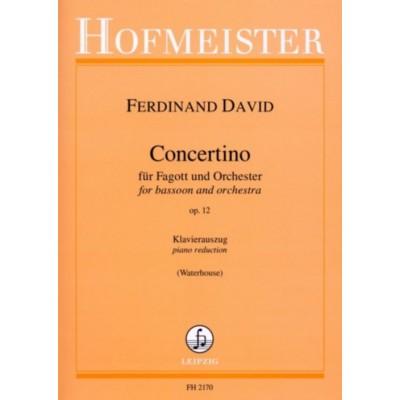 HOFMEISTER FERDINAND DAVID - CONCERTINO FUR FAGOTT UND ORCHESTER OP.12 - BASSON & PIANO