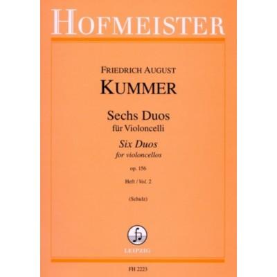 HOFMEISTER KUMMER F.A. - 6 DUOS POUR VIOLONCELLES OP.156 VOL.2