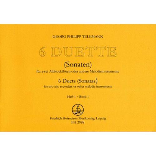 HOFMEISTER TELEMANN G. PH. - 6 DUETTE (SONATEN 1-3) - FLUTES A BEC