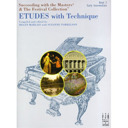 MUSIC SALES SUCCEEDING WITH MASTERS FESTIVAL COLL ETUDES WITH TECHNIQUE BOOK 3 - PIANO SOLO