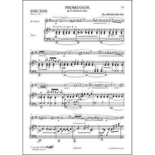 FLEX EDITIONS DELMAS M. - PROMENADE - CLARINET