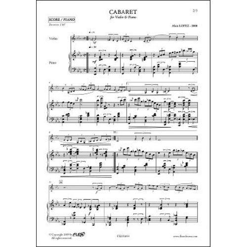 FLEX EDITIONS LOPEZ A. - CABARET - VIOLIN & PIANO