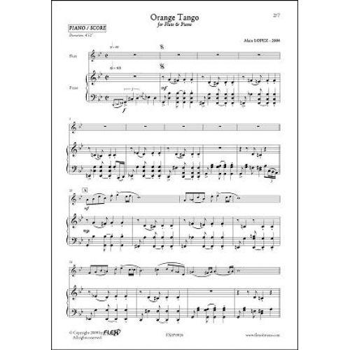 FLEX EDITIONS LOPEZ A. - ORANGE TANGO - FLUTE & PIANO