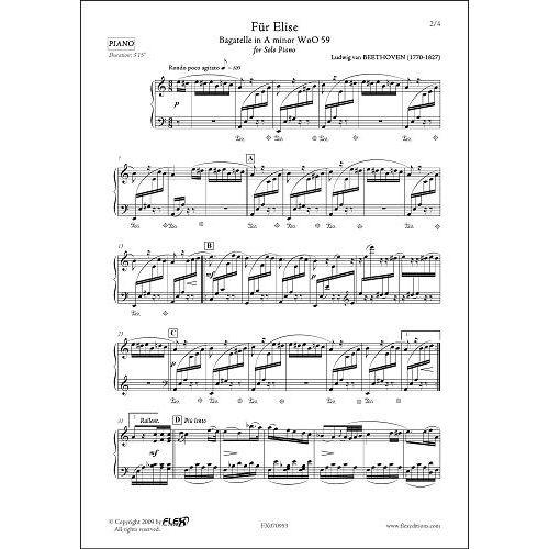 FLEX EDITIONS BEETHOVEN L.V. - FUR ELISE - SOLO PIANO