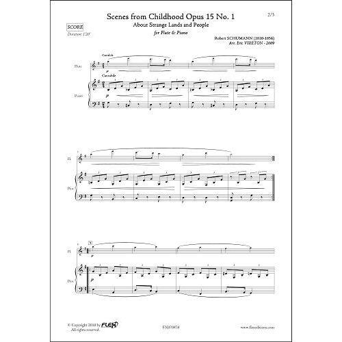 FLEX EDITIONS SCHUMANN R. - SCENES D'ENFANTS OPUS 15 NO. 1 - FLUTE & PIANO