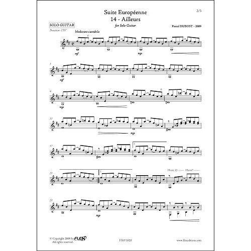 FLEX EDITIONS DUBOST P. - SUITE EUROPEENNE - 14 - AILLEURS - SOLO GUITAR