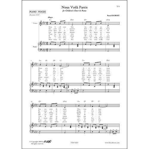 FLEX EDITIONS DUBOST P. - NOUS VOILA PARTIS - CHORALE D'ENFANTS ET PIANO OU GUITARE