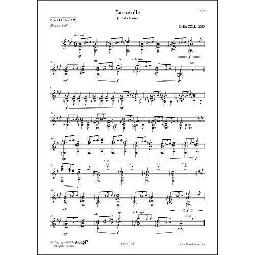 FLEX EDITIONS COLL D. - BARCAROLLE - SOLO GUITAR