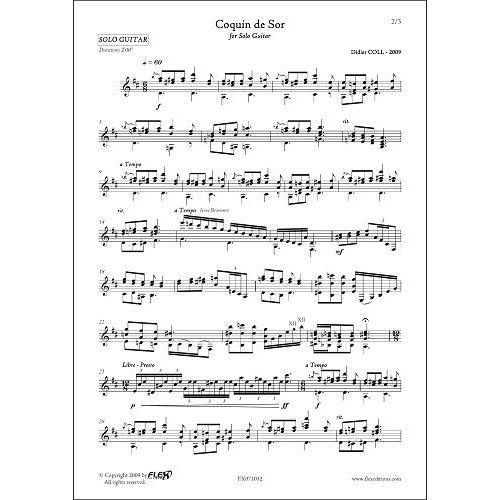 FLEX EDITIONS COLL D. - COQUIN DE SOR - SOLO GUITAR