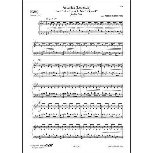 FLEX EDITIONS ALBENIZ I. - ASTURIAS - SOLO PIANO