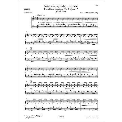 FLEX EDITIONS ALBENIZ I. - ASTURIAS - EXTRACTS - SOLO PIANO