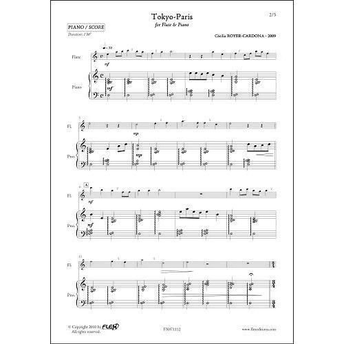 FLEX EDITIONS ROYER-CARDONA C. - TOKYO-PARIS - FLUTE ET PIANO