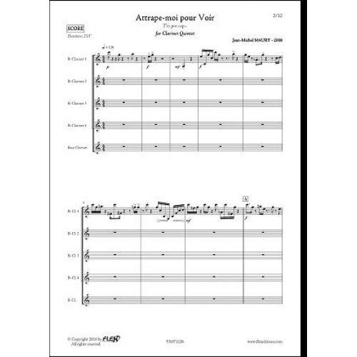 FLEX EDITIONS MAURY J.-M. - ATTRAPE-MOI POUR VOIR... - CLARINET QUINTET