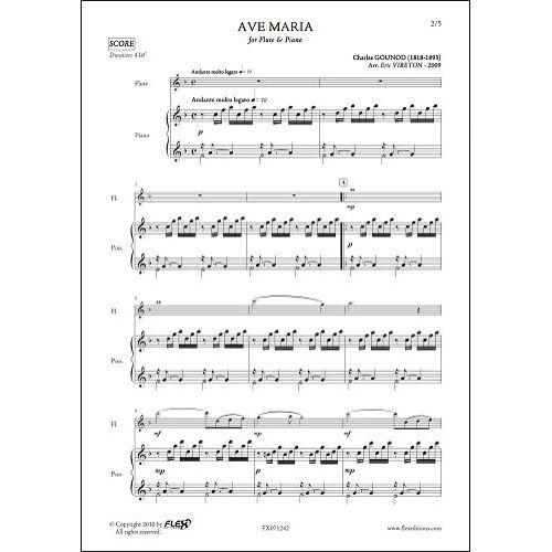 FLEX EDITIONS GOUNOD C. - AVE MARIA - FLUTE & PIANO