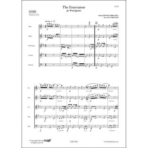 FLEX EDITIONS JOPLIN S. - THE ENTERTAINER - WIND QUINTET
