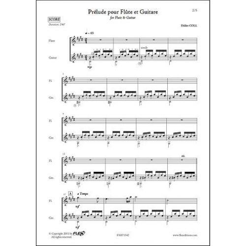 FLEX EDITIONS COLL D. - PRELUDE POUR FLUTE ET GUITARE - FLUTE & GUITARE