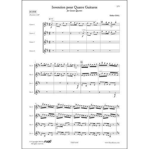 FLEX EDITIONS COLL D. - INVENTION - GUITAR QUARTET