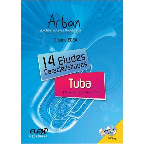 FLEX EDITIONS EGEA C. - 14 CHARACTERISTIC STUDIES ARBAN WITH ACCOMPANIMENT CDS - SOLO TUBA