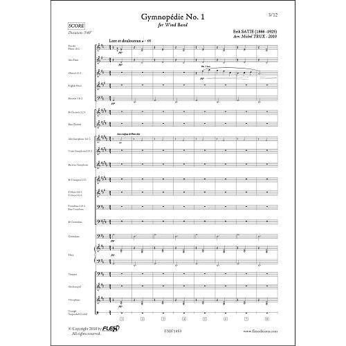 FLEX EDITIONS SATIE E. - GYMNOPEDIE NO. 1 - WIND BAND