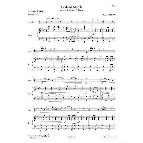 FLEX EDITIONS PROUST P. - SAXLAND MARCH - ALTO SAXOPHONE & PIANO