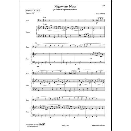 FLEX EDITIONS LOPEZ A. - MIGNONNET NOAH - EUPHONIUM AND PIANO