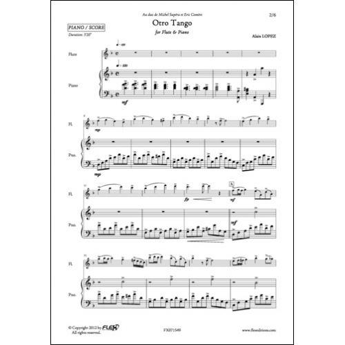 FLEX EDITIONS LOPEZ A. - OTRO TANGO - FLUTE ET PIANO