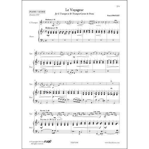 FLEX EDITIONS PROUST P. - LE VOYAGEUR - TRUMPET & PIANO