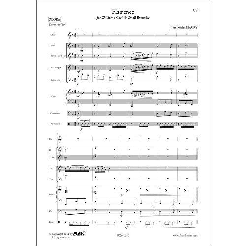 FLEX EDITIONS MAURY J.-M. - FLAMENCO - CHILDREN'S CHOIR AND SMALL ENSEMBLE