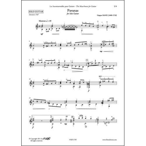 FLEX EDITIONS SANZ - PAVANAS - SOLO GUITAR