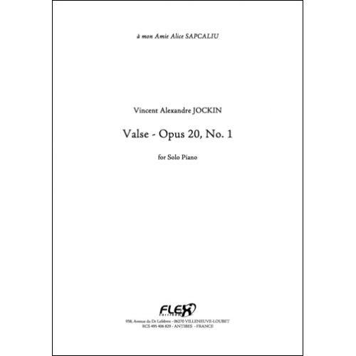 FLEX EDITIONS JOCKIN V. A. - VALSE - OPUS 20 NO. 1 - SOLO PIANO