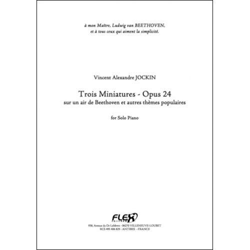 FLEX EDITIONS JOCKIN V. A. - TROIS MINIATURES - OPUS 24 - SOLO PIANO