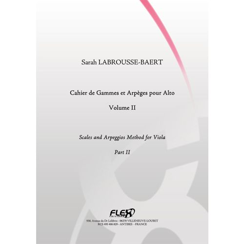 FLEX EDITIONS LABROUSSE-BAERT S. - SCALES AND ARPEGGIOS METHOD FOR VIOLA - VOLUME II - SOLO VIOLA